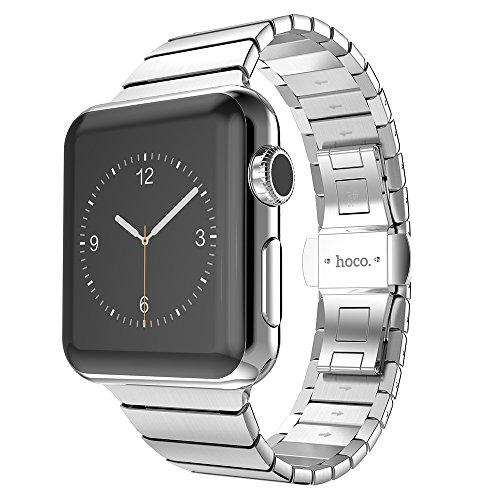 Pinhen Hoco - Cinturino classico in acciaio inox, adatto come ricambio per il cinturino di Apple Watch