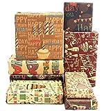 AUXSOUL 8 piezas de Papel de Regalo de Cumpleaños, Papel de Regalo Decorativo, el Mejor Papel de...