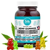 Hemp Gummies for Stress and Anxiety Relief - High Potency, 100% Natural Hemp Oil Gummies for Pain, Inflammation, Migraine - Made in USA - Calming Infused Fruity Candy Promotes Relaxation, Mood, Sleep