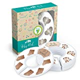 Baby Nest Designs UNISEX Closet Dividers for Baby Clothes - 7x Baby Clothing Size Dividers from Newborn Infant to 24 Months – Colored Gender Neutral Baby Clothes Dividers and Nursery Closet Organizer