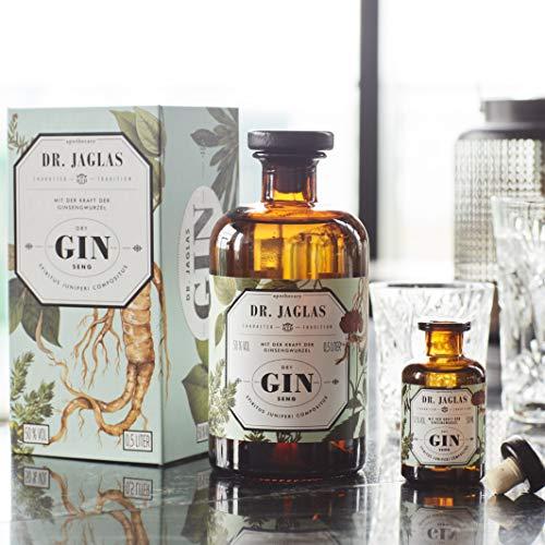Dr. Jaglas Gin Seng | Wacholderbeer-Spiritus als Einzelflasche mit 500 ml | 50% Vol… - 6