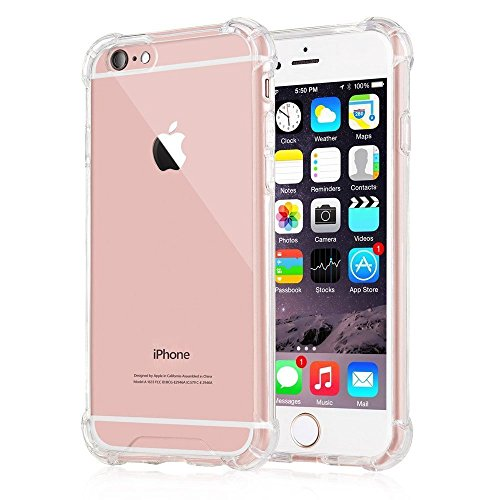 iPhone 6s Case, Yoyamo Crystal Clear Cover Case [Shock Absorption] with Transparent Hard Plastic Back Plate and Soft TPU Gel Bumper clear for iphone 6s 6