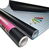 Rouleau Tableau Noir Adhesif - 44.5 x 200cm Bricolage Mural Sticker Surface Effaçable à Sec Papier Autocollant Auto-Adhésif...