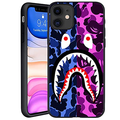 Fashion Shark Designed for iPhone 11 Case 6.1 , Fashion Slim Fit Protective Cases Cover, Anti Scratch Shockproof Drop Protection Soft Cover, Compatible with iPhone 11 (Bape-Shark)