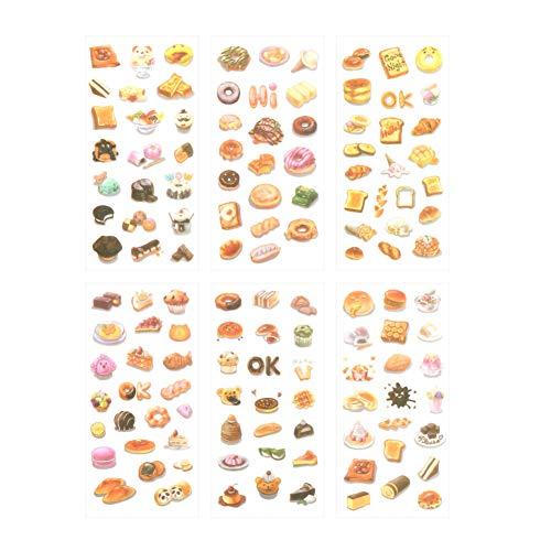 VVSMILE Dessert Creatief Handboek Decoratieve Schilderij Stickers Kleurrijke Voedsel Album Dagboek Account Mooie Hand getrokken Party Account Decoratie Stickers
