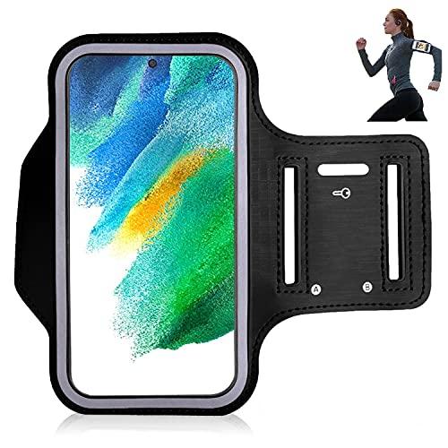 iPro Accessories Funda para Samsung S21 FE de 5 g, funda para brazalete Samsung S21 FE de 5 g, para deportes, correr, caminar, senderismo, entrenamiento y ejercicio, funda para brazalete (negro)