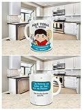 Taza Desayuno Aquí Toma el Mejor Ingeniero DE TELECOMUNICACIONES del Mundo,Regalo Original,Ceramica 330 ML,Fabricado por KIVIKE.