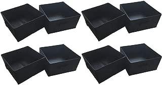 Mainstay Half-Size Collapsible Storage Bins, Black - Set of 8 (4 Packs of 2); Multi-Pack of B06VSRDDRL