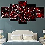 Affiche, 5 types d'impressions sur toile, type d'affiche sur toile, naruto anime, crâne rouge, pièces de toile, impression d'art, décoration murale moderne, peinture moderne HD 40x60 40x80 40x100