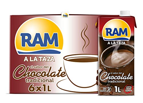 RAM Chocolate Líquido a la Taza - 6 x 1 L - Total: 6 L