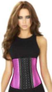 Ann Chery 2046 3 Hooks Latex Metallic Edition Waist Cincher,Pink,Size 3XL