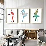 Ballett Tänzer Poster abstrakte Wand Bilder Aquarell