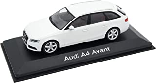 Audi A4 Avant 3.2 Quattro B8 Ibis White 2008 Year - Compact Executive car - 1/43 Scale Collectible Model Vehicle - Cars Produced by The German car Manufacturer Audi