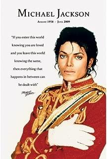 Michael Jackson Loved Quote Mini Poster Mini Poster Print, 16x20