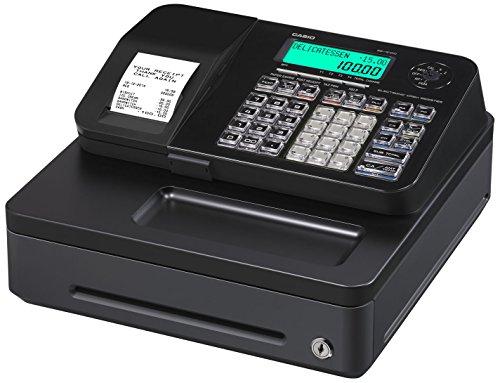 Casio SE-S100SB-BK-FIS GDPdU a habilitar caja registradora incluyendo licencia de software, tarjeta SD y la batería paquete completo y línea telefónica gratuita, negro