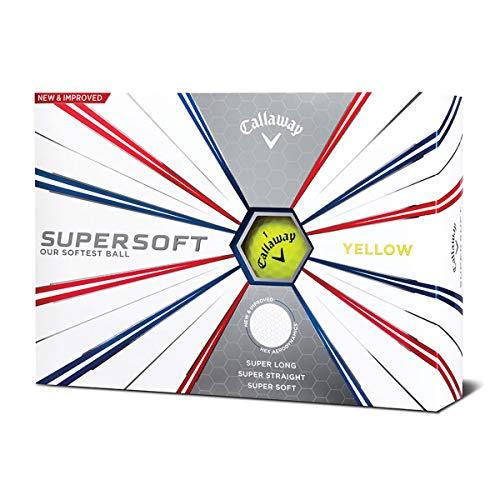 Callaway Golf 2019 Supersoft Golfbälle, Herren, Supersoft 19 Golf Ball, gelb