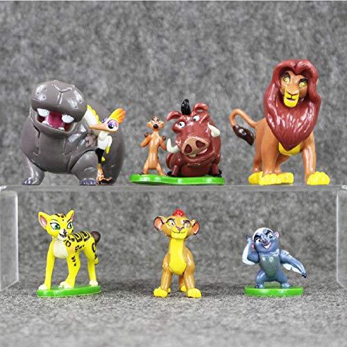 FJKYF Modelo De Anime6 Unids/Lote Madagascar Juguetes Colección Figuras Modelo Muñecas Animal Zoo Lion Zebra Jirafa Anime Niños Regalo 4-7Cm