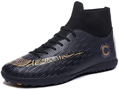 Mengxx Fußballschuhe für Herren, FG-Schuhe (fester Untergrund) mit hohem Schaft, für Sport, - Black T - Größe: 40 EU
