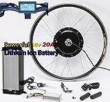 Kit de conversion de vélo électrique NBPower 50KM / H le plus récent, système 48V 1000W, avec batterie au lithium 48V 20AH