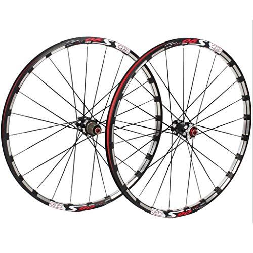 M-YN Juego Ruedas Bicicleta, Montaña Wheel Set 5 Cojinetes 120 Anillos Straight Tire Disco de Freno 26/27.5 Pulgadas Bicicleta Conjunto de Ruedas (Color : Black Hub, Size : 26inch)