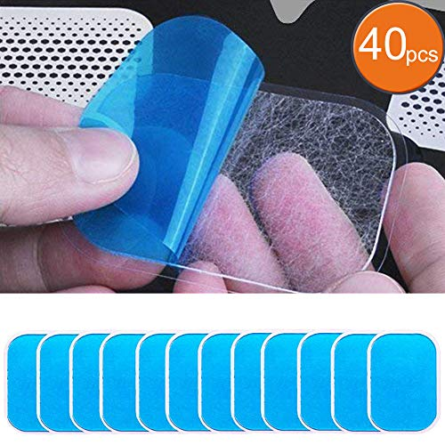 Lekeone 20 Sets of 40 Pads Abs Trainer Replacement Gel Sheet for EMS AB Trainer, Waist Trimmer Belt, ABS Toner Body Muscle Trainer,ABS Stimulator.