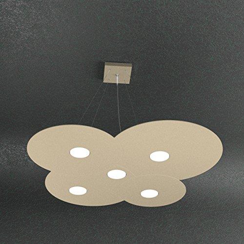 Lámpara LED 5 luces arena diseño moderno L 73 cm 1128/S5-SA
