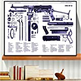 Simayi RPG Ak47 Russische Waffe Pistole Grafik Poster Und