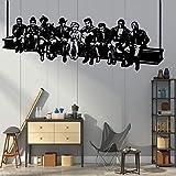 Tianpengyuanshuai Majestueux Hollywood déjeuner Stickers muraux décorer Salon Maison Autocollants Vinyle Art décalcomanies 45X102 cm