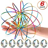 6 Pack Flow Ring Arm Magic Spring Arm Flow Rings Colored Magic Kinetic Spring Interactive Device