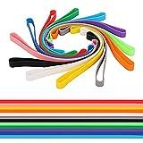 Cdemiy Bandas de Goma de Silicona, 12 Pcs Bandas de Goma Silicona de Colores, Suministros de Oficina con Banda de Goma Elástica Grande, para Libros, Cámaras, Cocina, Carpetas de Archivos (Color)