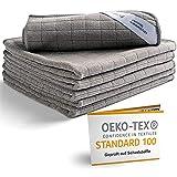 vaskbare mikrofiberkluter i topp kvalitet med Oeko-TEX-tetning (6 stk, 30x30 cm, grå) Premium mikrofiberrengjøringskluter spesielt til kjøkken, bad og husholdning - absorberende, myke og lofri