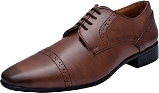 HiREL'S Men Brown Derby Office Formal Shoes