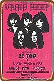 HONGXIN 1973 Uriah Heep Zz Top Earth Wind Fire Metallschild
