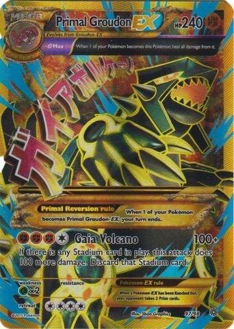 Pokemon - Primal Groudon-EX (97/98) - Ancient Origins - Holo