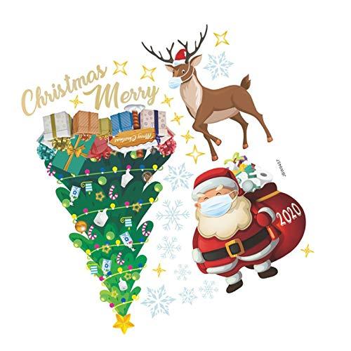 Christmas Stickers Window Removable PVC Winter Reusable Window Decoration, Elch Kühlschrank Aufkleber Schneeflocke Aufkleber For Christmas Windows, Showcases, Glass Fronts