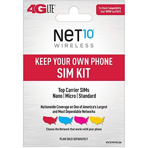 Net10 Keep Your Own Phone 3-in-1 Prepaid SIM Kit