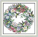 Stamped Cross Stitch Kits The Art of Hummingbirds 14 Count 20.8'x 24.4' DIY Needle Work for Home Decor