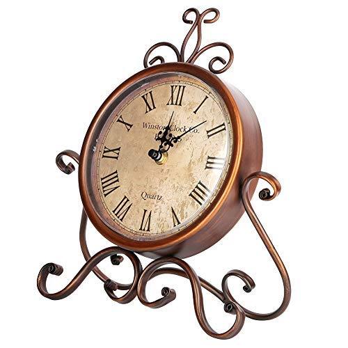 Hierro Arte Escritorio Reloj Hogar Retro Vintage Reloj Mute Reloj de cabecera Antiguo Craft Escritorio Ornamento Decoración del Hogar