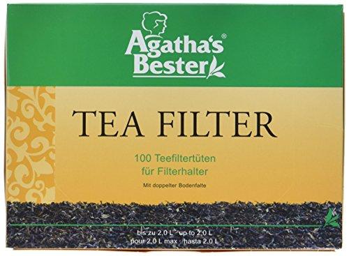 Herbaria Teefilter - TeefilterTüten aus Manila-Hanf 100 Stück, 2er Pack (2x 74 g Packung)