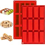 Molde de silicona mini rectangular para tartas de 12 formas rectangulares para tartas, cupcakes,...