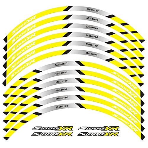 Fuerte Etiqueta de la rueda de la motocicleta Equipo de carreras de motocicletas Accesorios Accesorios de rueda Neumático RIM Decoración adhesiva adhesiva calcomanía de calcomanía para S1000XR S1000 X