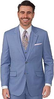 Paul Fredrick Men's Super 120s Sharkskin Notch Lapel Suit
