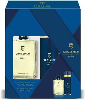 Crossmen Sport Set para Hombre: Eau de Toilette Natural Splash 100 ml + Desodorante Body Spray 150 ml