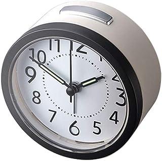 Bracket Clock Silent Alarm Clock Snooze و Night Light سهلة التشغيل منبه للمدرسة الأطفال الأطفال البطارية بالطاقة الأبيض Li...