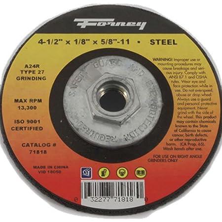 Type 27-4 X 1//4X5//8 DENZEL Metal Grinding Wheel
