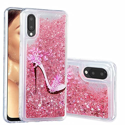 Funda para Samsung Galaxy A02S, con purpurina 3D, diseño de arena movediza, transparente y transparente, gel de silicona TPU a prueba de golpes, para Samsung Galaxy A02S