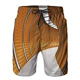 Homme Shorts de Bain Plage Maillot de Bain Court de Sport Natation Pant,Modèle de Long Couloir Moderne Structure géométrique,été pour Surf Board Casual Séchage Rapide Pantalon Sport 3XL
