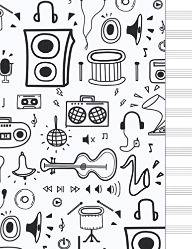 Cuaderno de música: libreta pentagramas musica