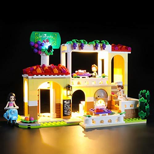 iCUANUTY Kit de Iluminación LED para Lego 41379, Kit de Luces Compatible con Lego Friends - Restaurante de Heartlake City (No Incluye Modelo Lego)