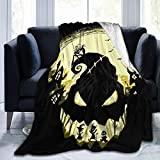 NYF Nightmare Before Christmas Art Ultra-Soft Micro Fleece Blanket Throw Super Soft Anti-Pilling Lightweight Sofa Plush Bed Couch Living Room50x40 in